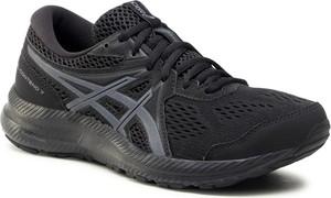 Czarne buty sportowe ASICS sznurowane z płaską podeszwą