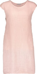 Sukienka Linen Collection z okrągłym dekoltem