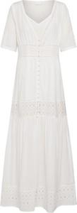 Sukienka Vila z bawełny maxi z krótkim rękawem