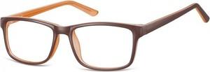 Stylion Okulary Zerówki klasyczne oprawki Sunoptic CP155B brazowo-kremowe