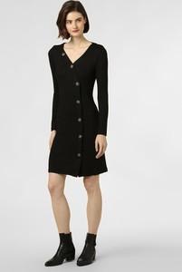 Czarna sukienka Aygill`s asymetryczna z dzianiny