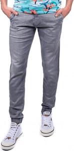Srebrne spodnie Pepe Jeans
