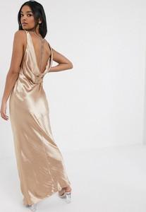 Różowa sukienka Asos Design maxi na ramiączkach