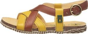 Buty dziecięce letnie El Naturalista ze skóry z klamrami
