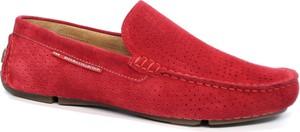 Czerwone półbuty Badura w stylu casual