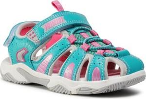 Turkusowe buty dziecięce letnie Primigi na rzepy dla dziewczynek