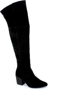 Kozaki Karino ze skóry na zamek za kolano