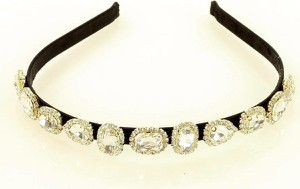 Gk-Style Unikatowa opaska ozdobna na włosy diadem tiara srebrna MAZZINI