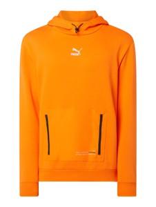 Pomarańczowa bluza Puma Performance z bawełny w młodzieżowym stylu