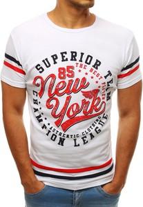 T-shirt Dstreet z nadrukiem z bawełny z krótkim rękawem