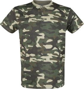 T-shirt Emp w militarnym stylu z bawełny z krótkim rękawem