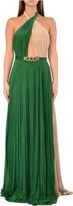 Zielona sukienka Elisabetta Franchi maxi bez rękawów