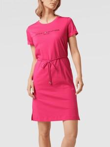 Sukienka Tommy Hilfiger mini z bawełny z krótkim rękawem