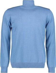 Niebieski sweter Lavard z tkaniny