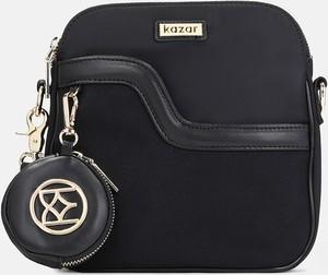 Czarna torebka Kazar średnia z tkaniny w stylu glamour