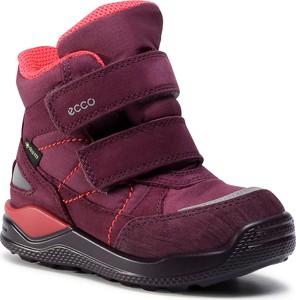 Fioletowe buty dziecięce zimowe eobuwie.pl z goretexu