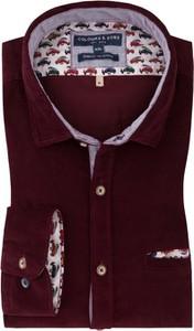 Czerwona koszula Colours & Sons z bawełny z długim rękawem