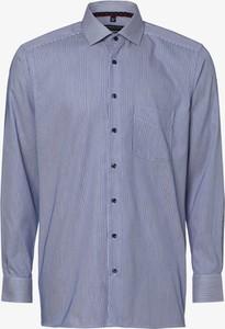 Niebieska koszula Andrew James z bawełny z klasycznym kołnierzykiem