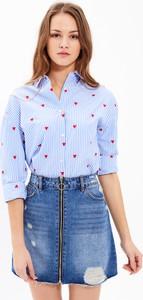 T-shirt Gate z bawełny z długim rękawem