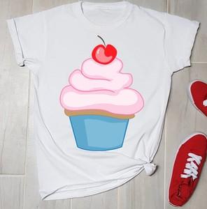 Bluzka Time For Fashion z nadrukiem z okrągłym dekoltem w młodzieżowym stylu