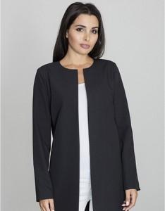 Czarny płaszcz Figl w stylu casual
