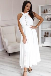 27ba75de74 długa biała sukienka plażowa - stylowo i modnie z Allani