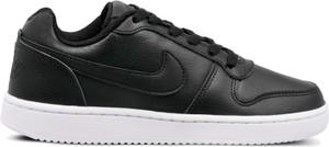 Czarne trampki Nike ze skóry sznurowane