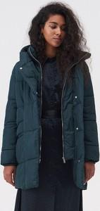 Turkusowy płaszcz Sinsay w stylu casual