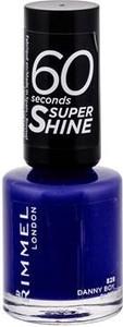 Rimmel London 60 Seconds Super Shine 828 Danny Boy, Blue! Lakier do paznokci W 8 ml