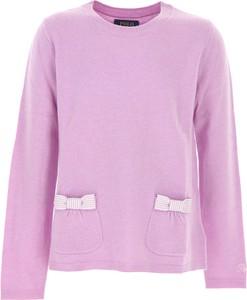 Fioletowy sweter Ralph Lauren z bawełny