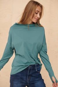 Zielona bluzka Blue Shadow z długim rękawem