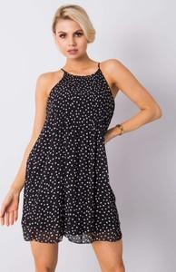 Czarna sukienka Sheandher.pl na ramiączkach z okrągłym dekoltem mini