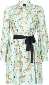 Sukienka Pinko z tkaniny z długim rękawem