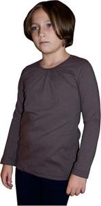 Brązowa bluzka dziecięca Grupa Ventus z bawełny dla dziewczynek z długim rękawem