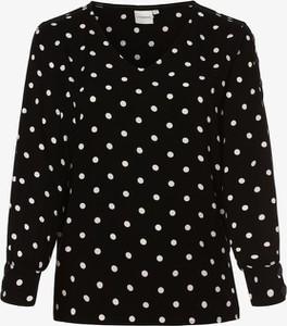 Czarna bluzka Junarose z długim rękawem z dekoltem w kształcie litery v