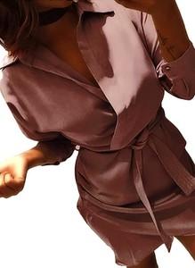 Brązowa sukienka Sandbella szmizjerka