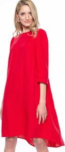 Czerwona sukienka L'AF asymetryczna
