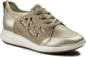 Buty sportowe geox ze skóry ekologicznej w sportowym stylu