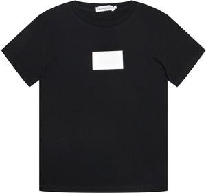 Czarna koszulka dziecięca Calvin Klein z krótkim rękawem dla chłopców