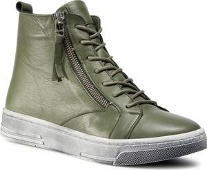 Zielone buty sportowe eobuwie.pl sznurowane z płaską podeszwą