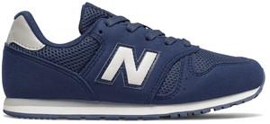 Niebieskie buty sportowe dziecięce New Balance z zamszu