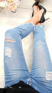 Jeansy Tajus z jeansu w street stylu