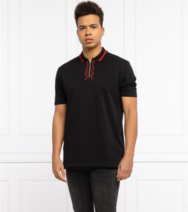 Czarny t-shirt Hugo Boss z krótkim rękawem z bawełny