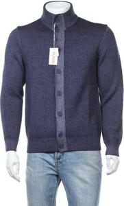 Niebieski sweter Sun68 w stylu casual ze stójką