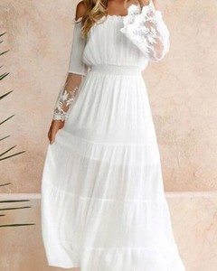 Sukienka Kendallme z długim rękawem w stylu boho