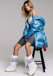 Niebieska kurtka After Label krótka w młodzieżowym stylu