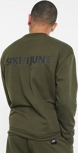 Brązowa bluza Sixth June z bawełny