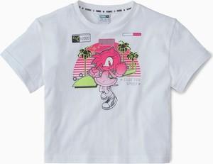 T-shirt Puma z okrągłym dekoltem z krótkim rękawem z bawełny