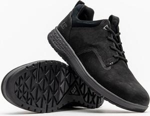 Czarne buty sportowe Caterpillar ze skóry w sportowym stylu
