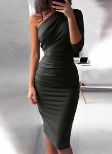 Sukienka Cikelly maxi z okrągłym dekoltem dopasowana